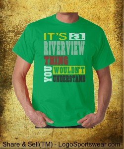 A Riverview Thing, Cotton T-shirt green Design Zoom