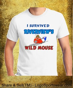 Survived the Mouse! Cotton T-Shirt Design Zoom